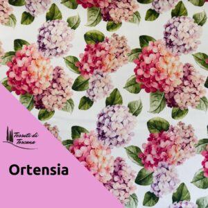 Tovaglia antimacchia decoro Ortensia