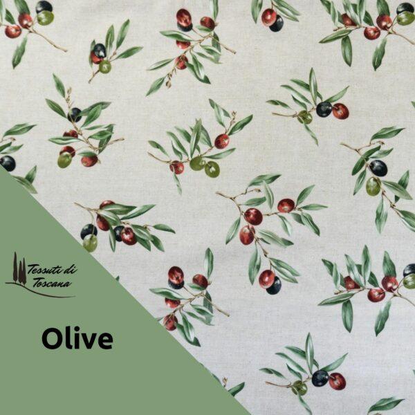 Tovaglia antimacchia decoro Olive