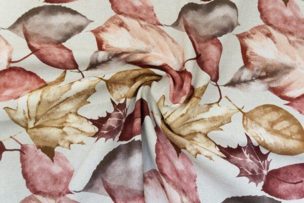 Tovaglia antimacchia decoro foglie