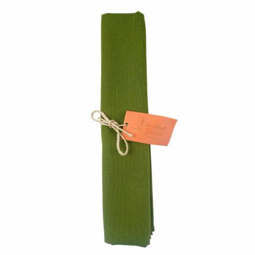 Canovaccio in cotone verde Militare