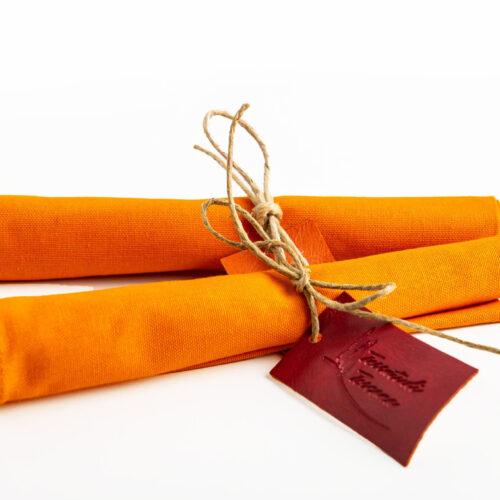 Tovagliolo in cotone, Arancio