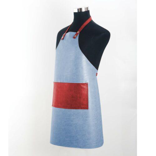 Grembiule Clip&Cook in pelle wosde colore Acqua
